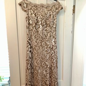 Anthropologie champagne sequin dress 12